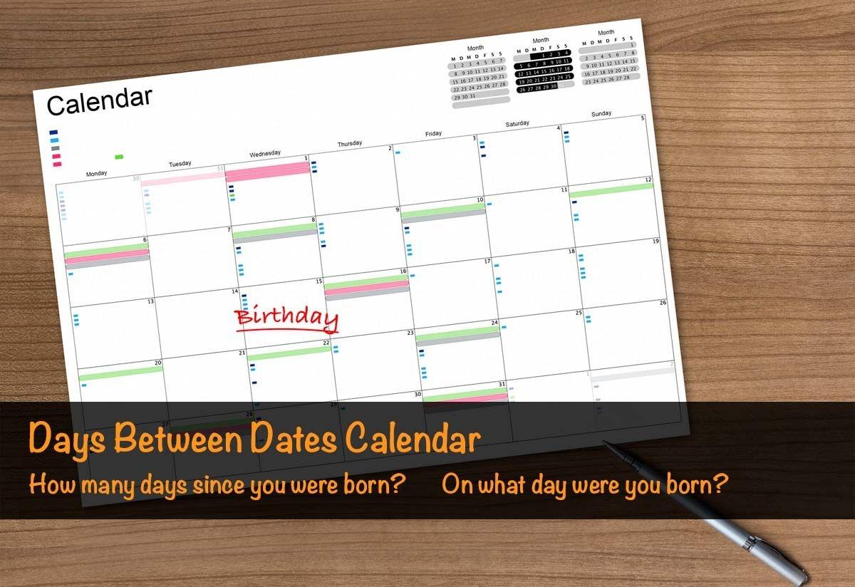 days between dates & time between dates calculator