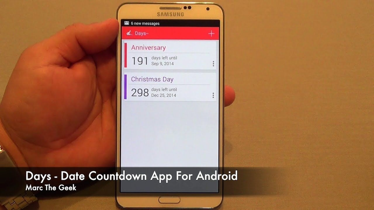 Days Date Countdown App For Android