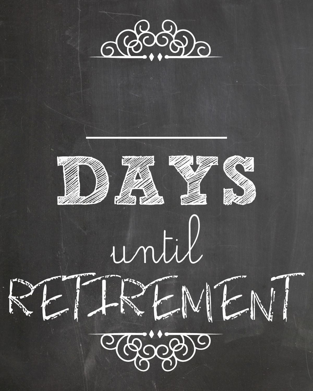 days until retirement | retirement countdown, countdown
