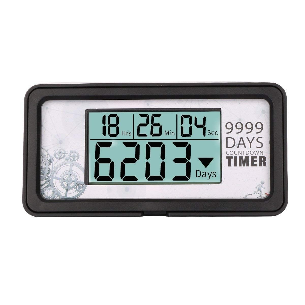 Digital 9,999 Day Countdown Clock Timer Days Nine Rong Lcd