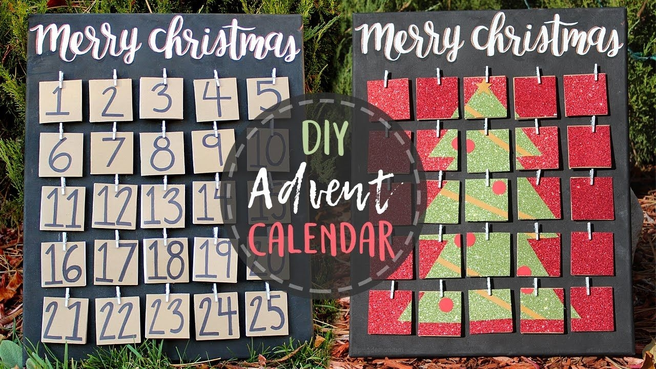 Diy Advent Calendar Countdown To Christmas!🎄