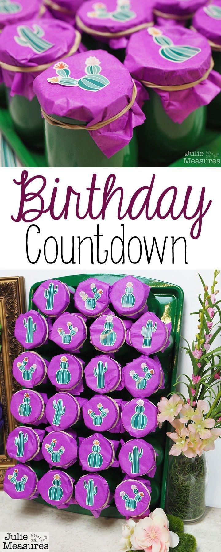 Diy Birthday Countdown Calendar! Birthday Coming Up