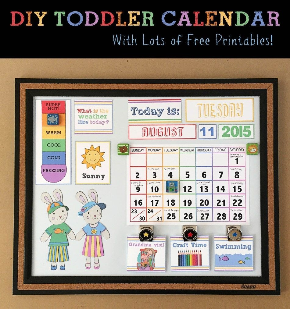 Diy Children's Calendarcrafting Cheerfully | Toddler