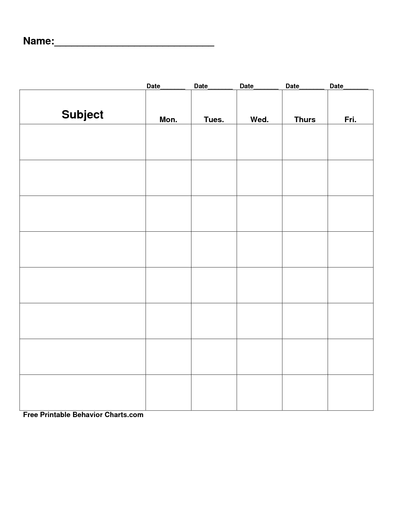 Docstoc Is Closed | Reward Chart Template, Free Printable