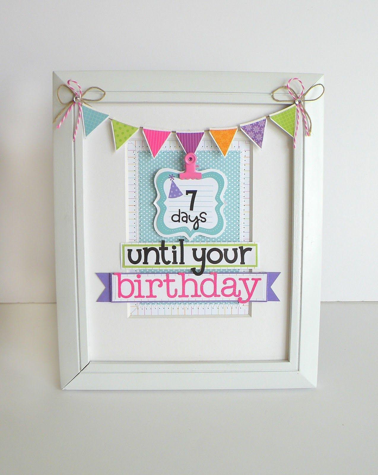 doodlebug design inc blog: framed birthday countdown