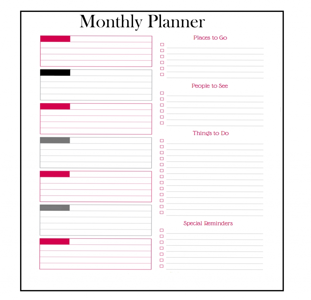 download free monthly planner templates {pdf, excel, word