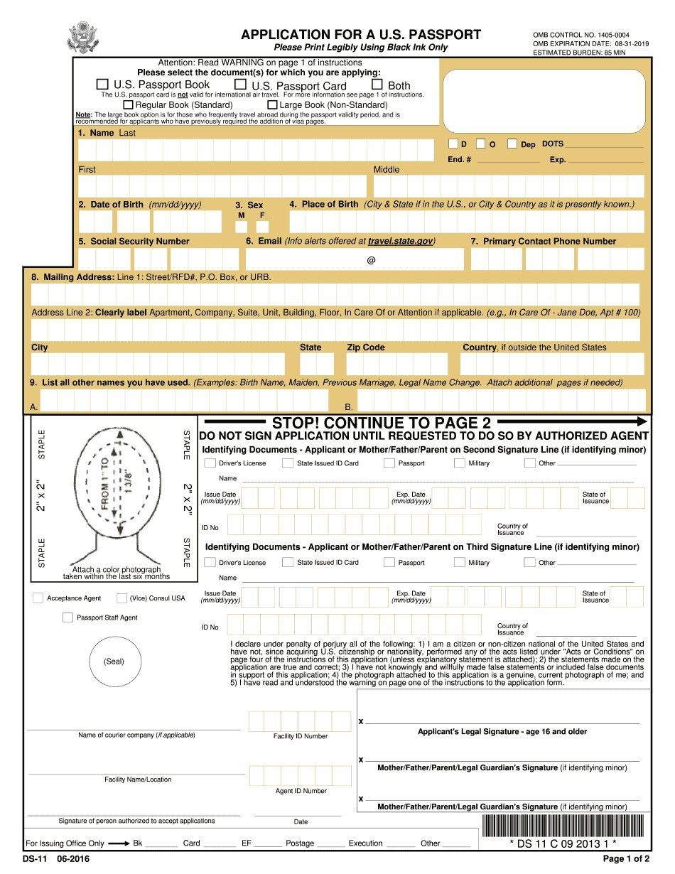 Ds 11 Fillable Form Ds 11 Form 2018 Fillable & Printable
