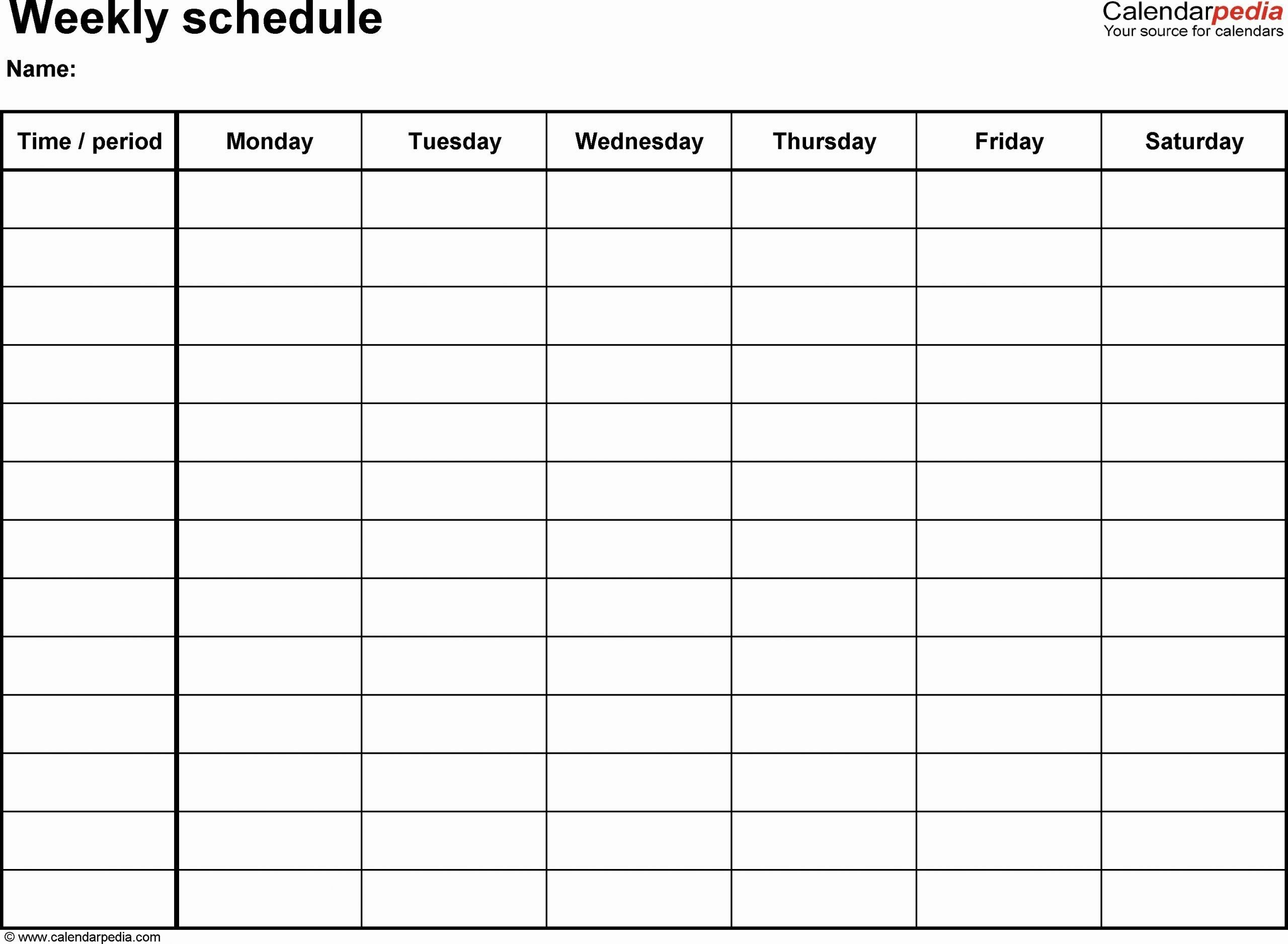 √ 30 7 day week schedule template in 2020 | schedule