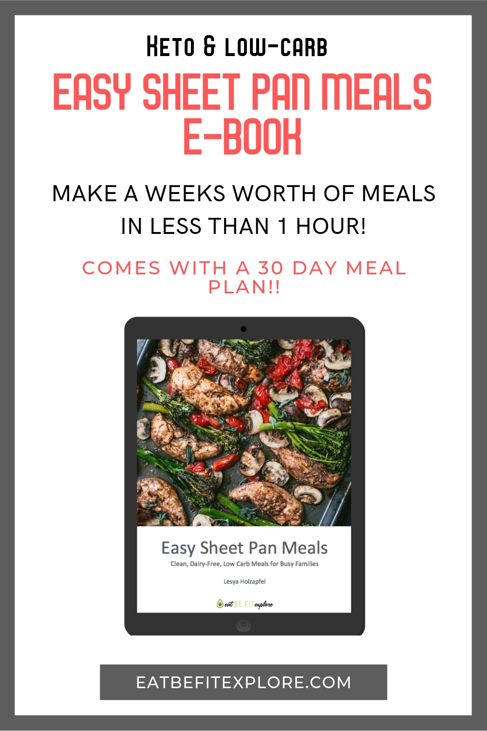 Easy Sheet Pan Meals | Free Keto Meal Plan, Meal Planning, Keto
