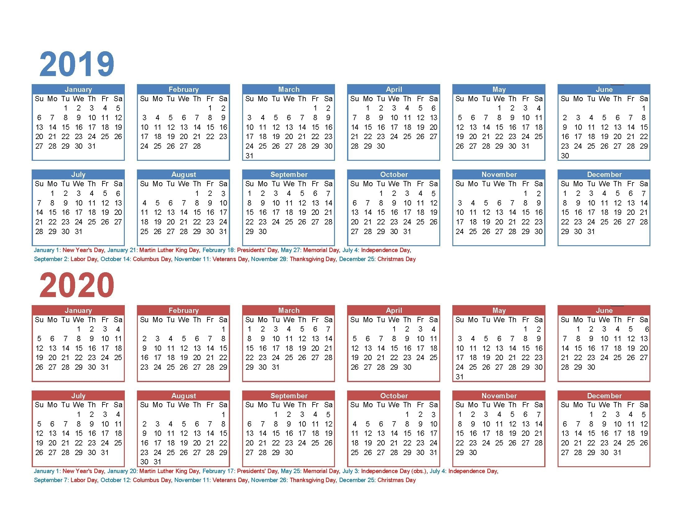 Effective Free Printable 5 Year Calendar In 2020 | Monthly