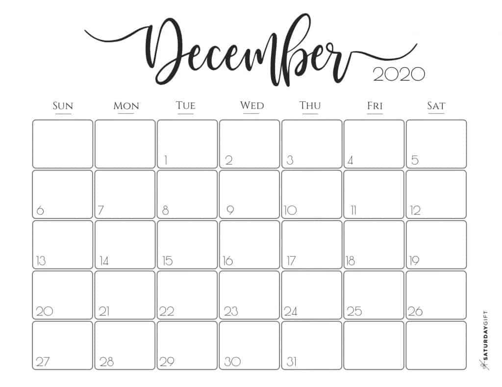 elegant 2020 calendar december free printables | pretty