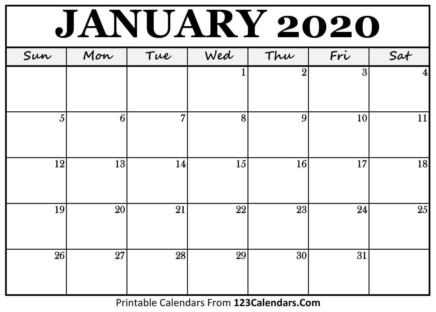 Exceptional Blank Calendar Template 2020 No Weekends In 2020