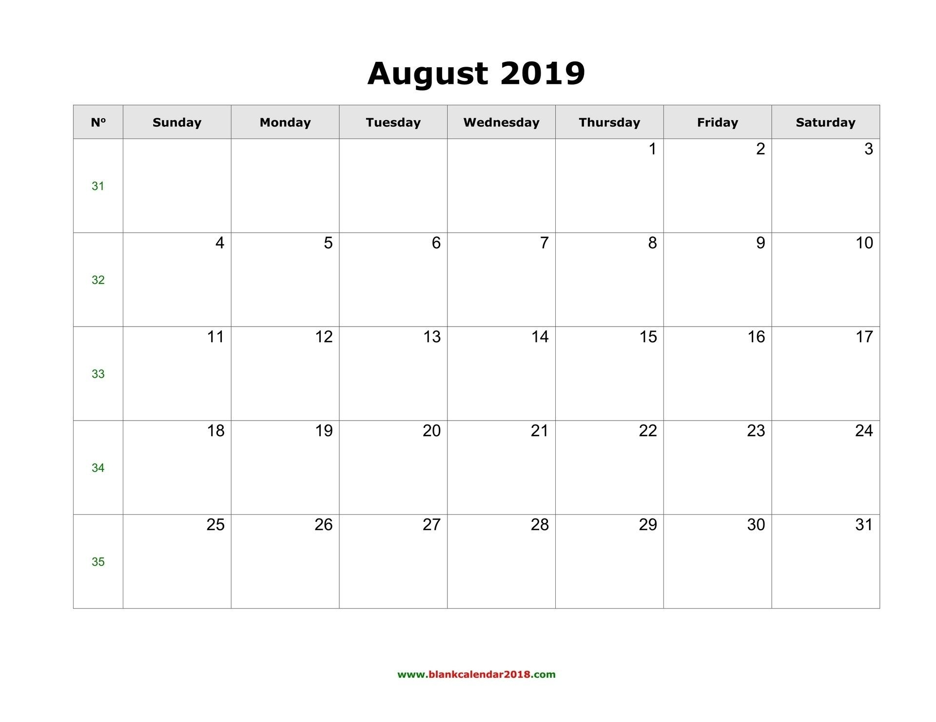 Exceptional Free Blank Calendar Printable Weekly No Download