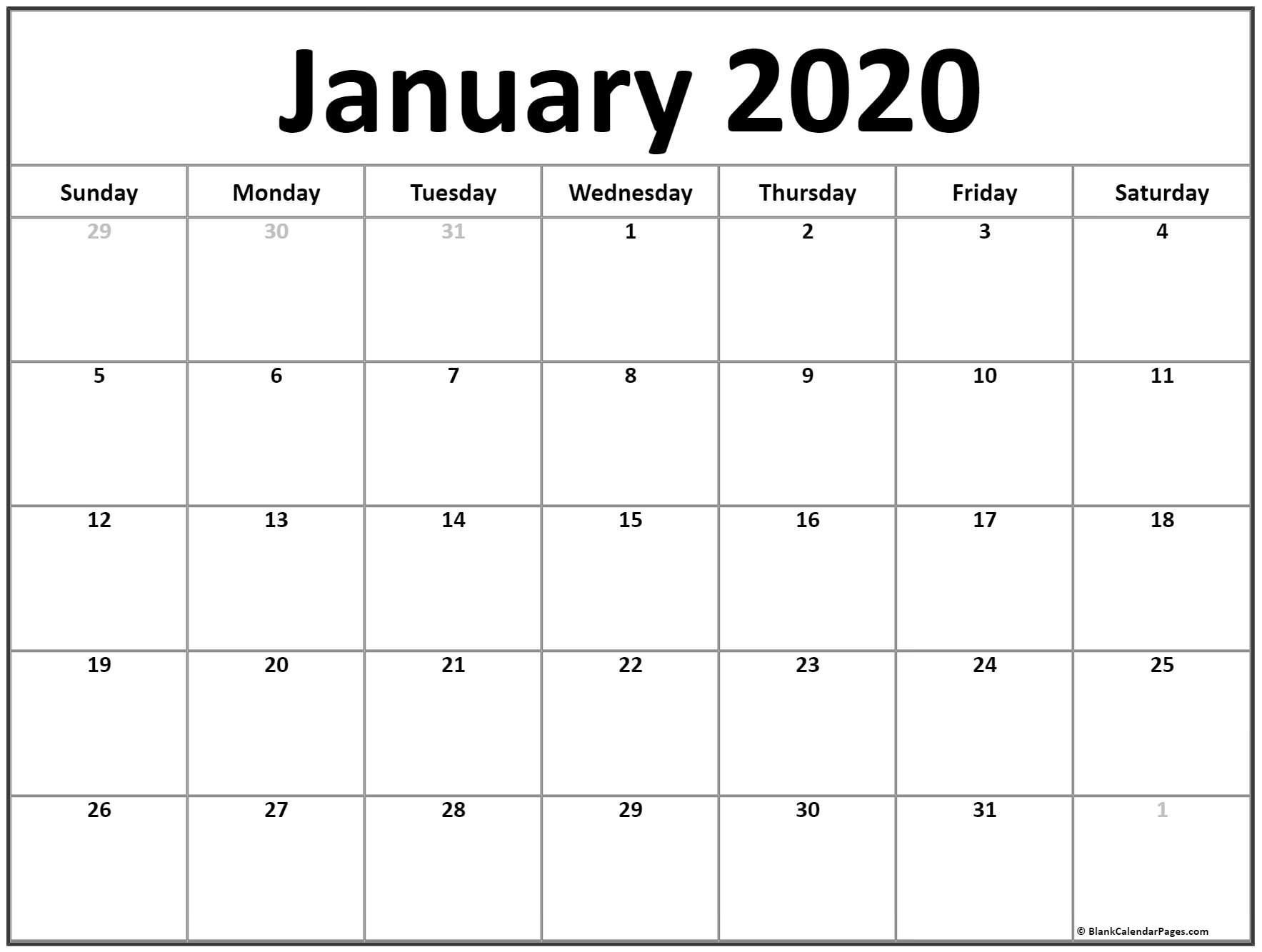 Extraordinary Monthly Calendar 2020 Without Weekends In 2020