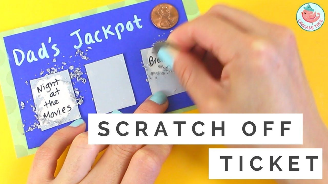 father's day gift card how to make diy scratch off card & lottery ticket easy paper crafts