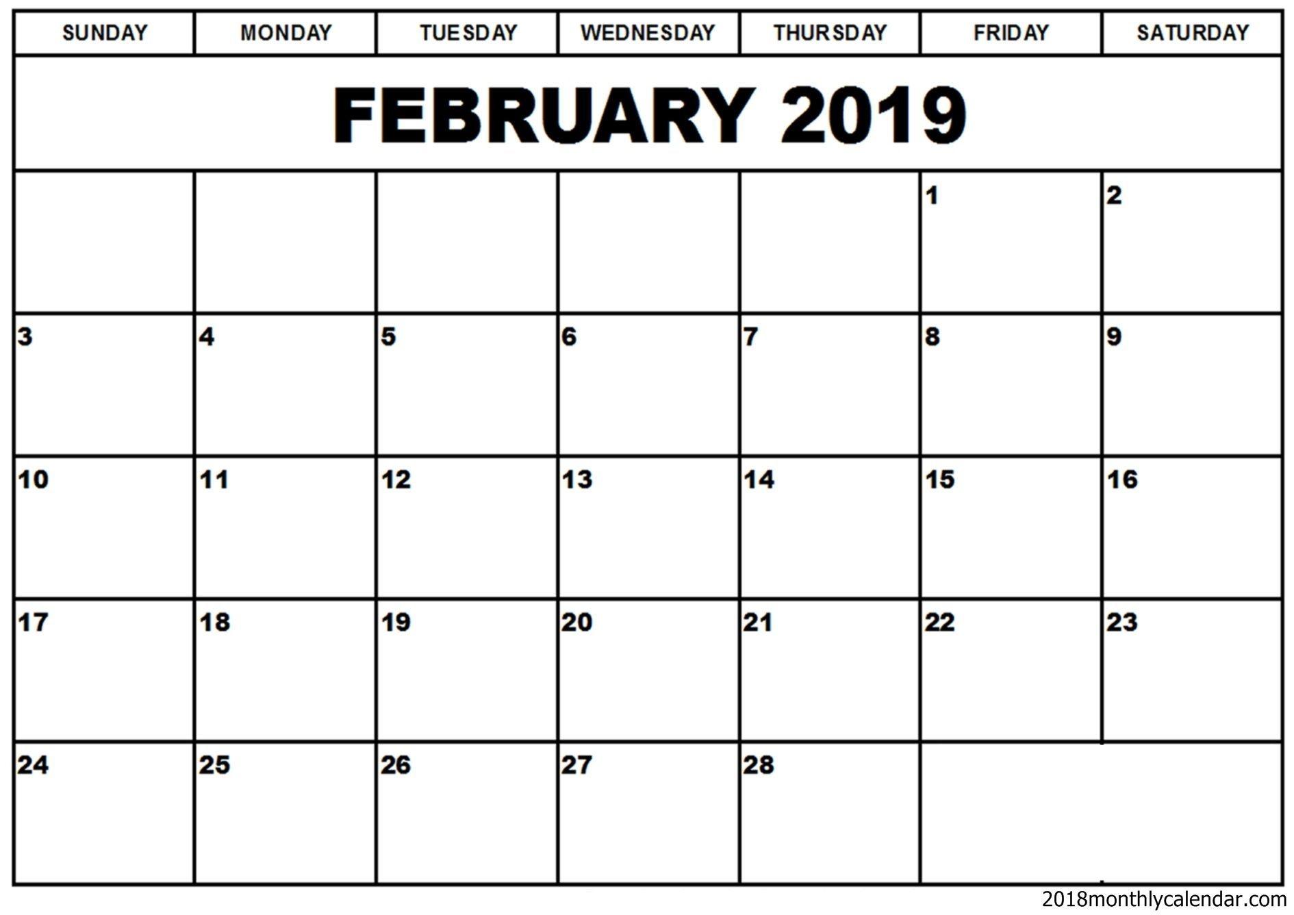 february 2019 calendar word template | editable calendar