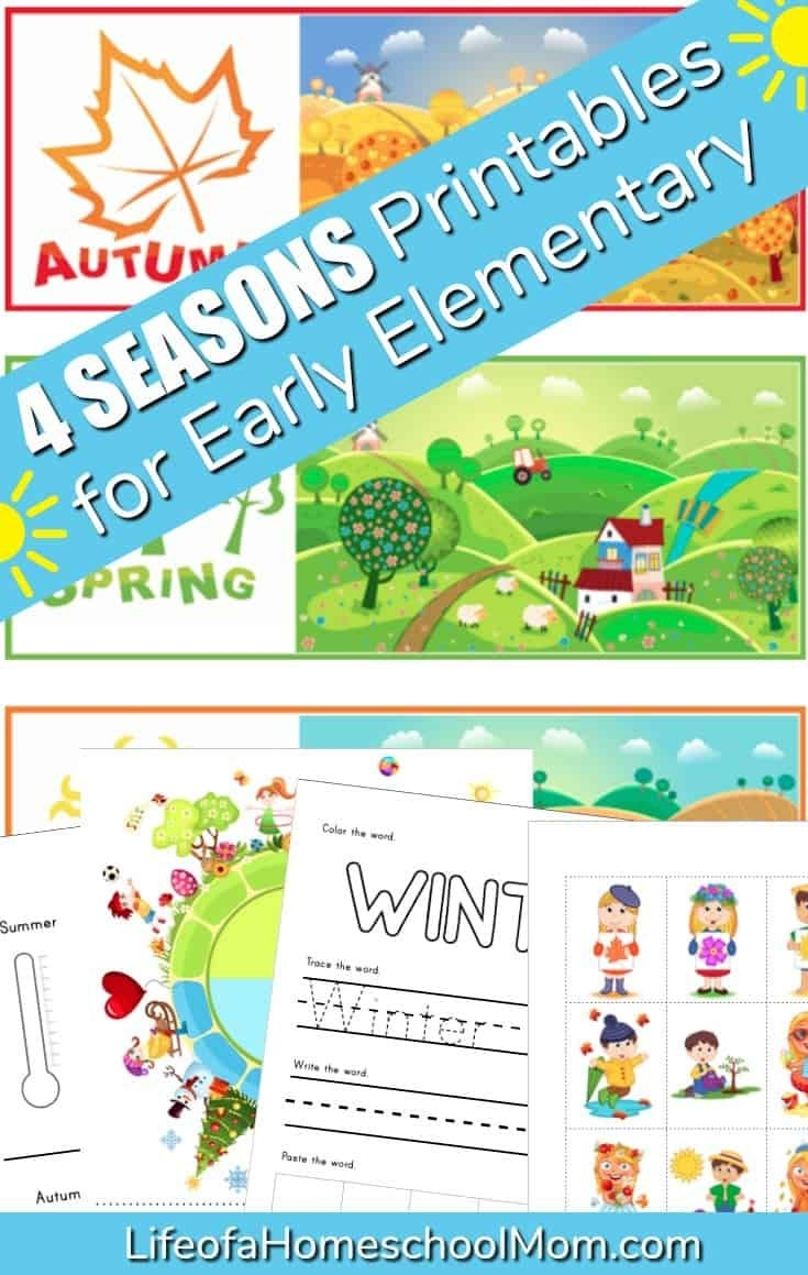four seasons free printable pack | free homeschool deals ©