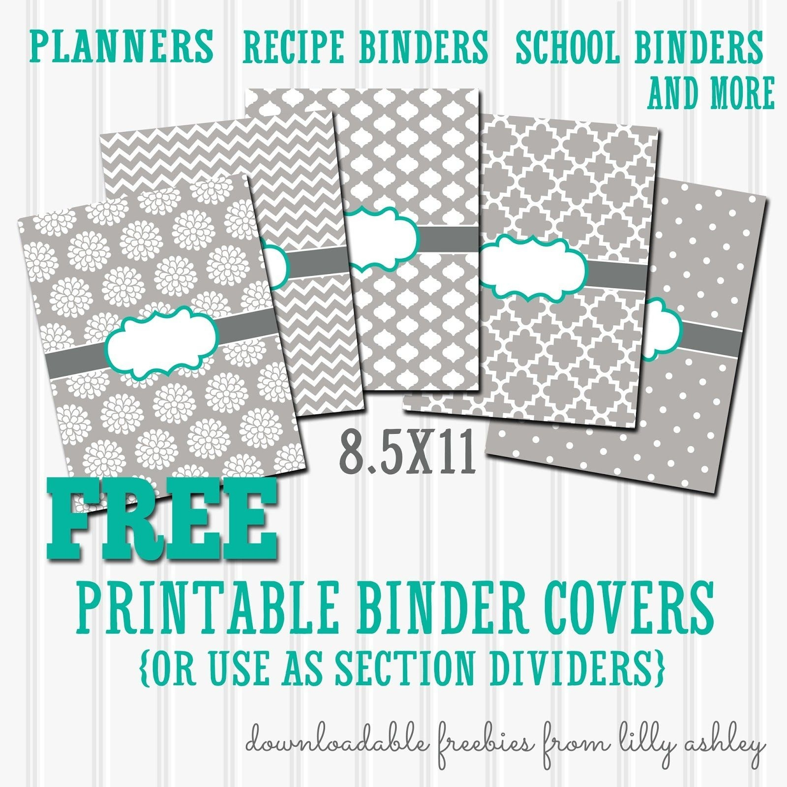 Free Binder Covers Printable Set | Binder Covers Printable