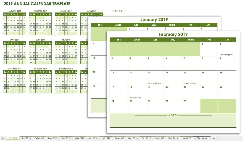 Free Blank Calendar Templates Smartsheet