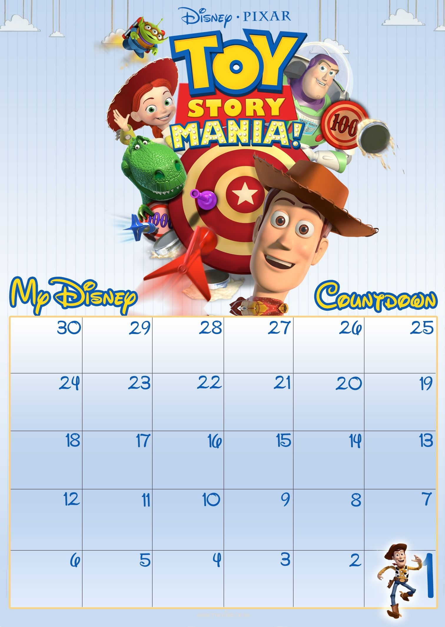 free download free 30 day disney countdown calendar