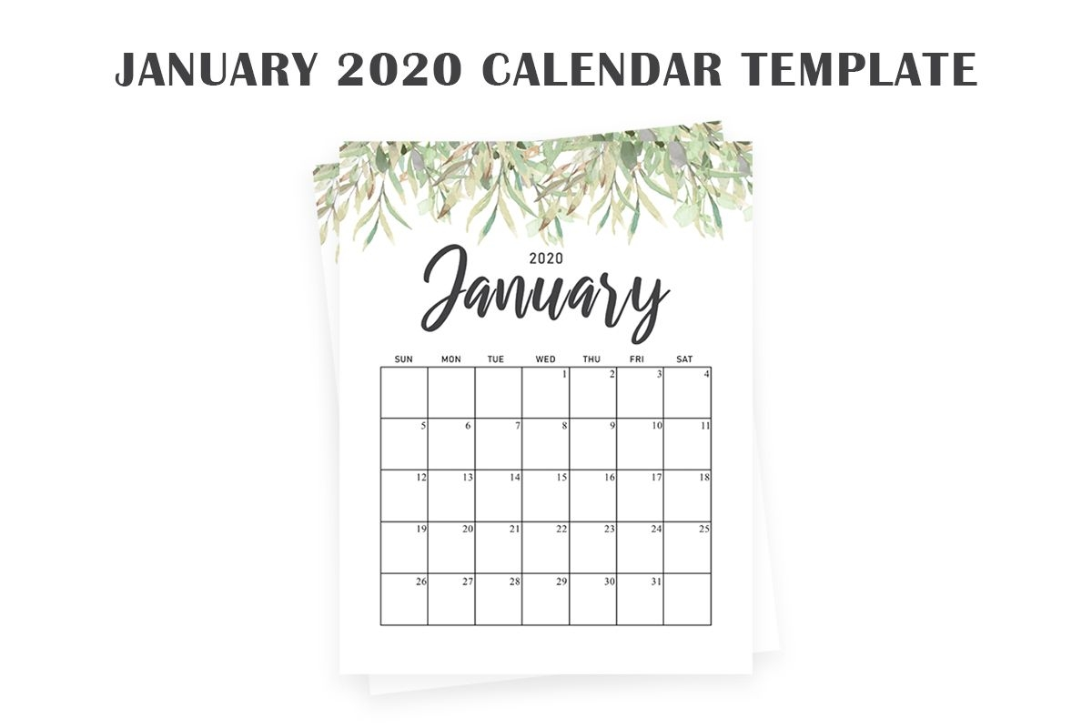 Free January 2020 Calendar Creativetacos