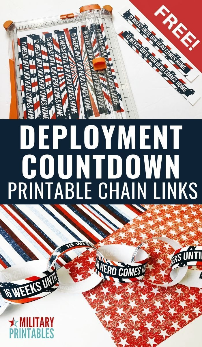 free patriotic deployment countdown printable chain links