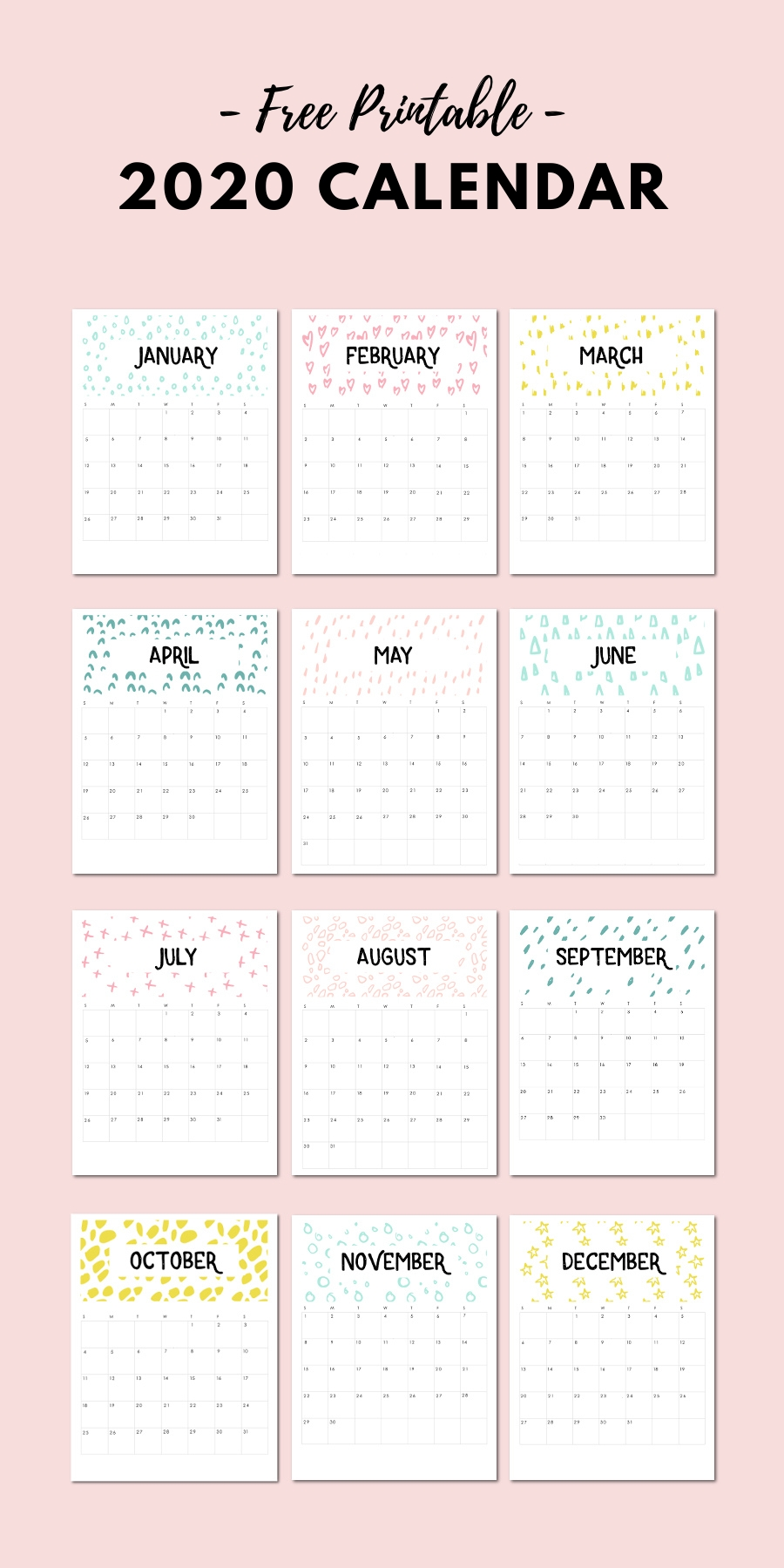 Free Printable 2020 Calendar — Gathering Beauty | Templates