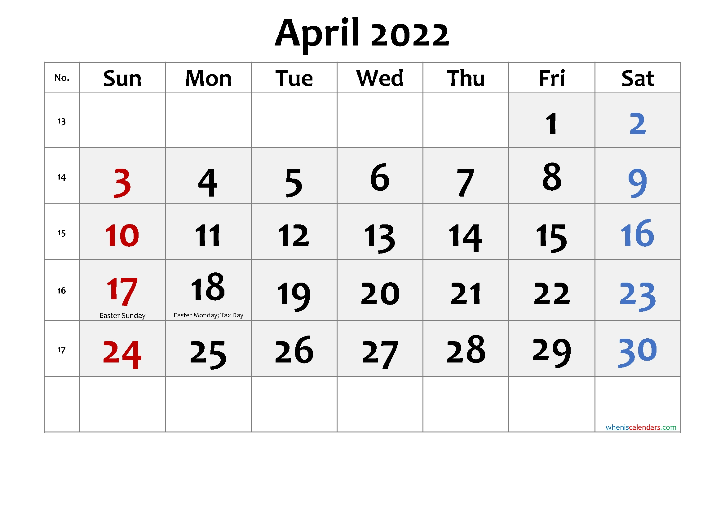free printable april 2022 calendar pdf template no cd22fm52