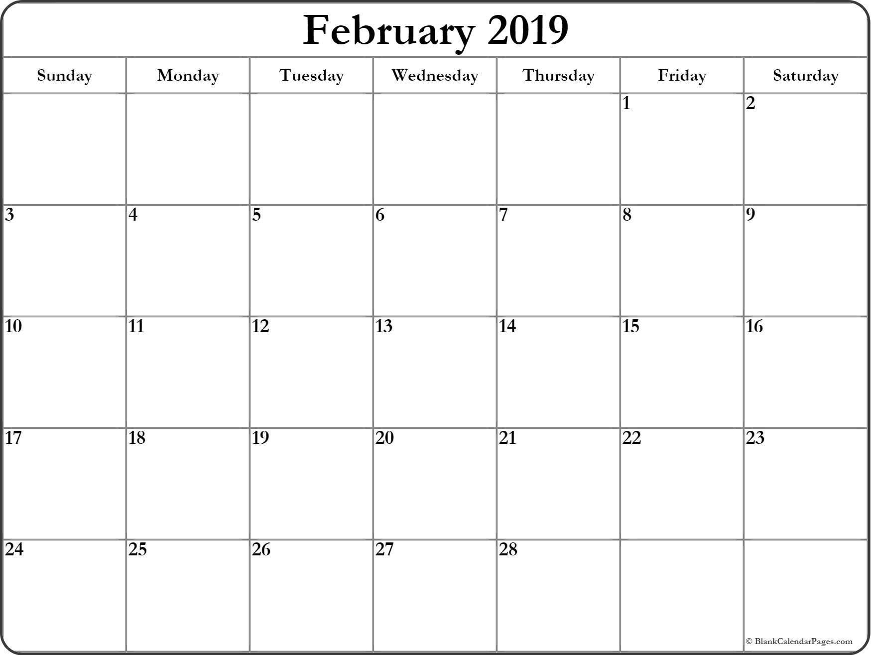 Free Printable Blank Calendar Month 1 In 2020 | Monthly