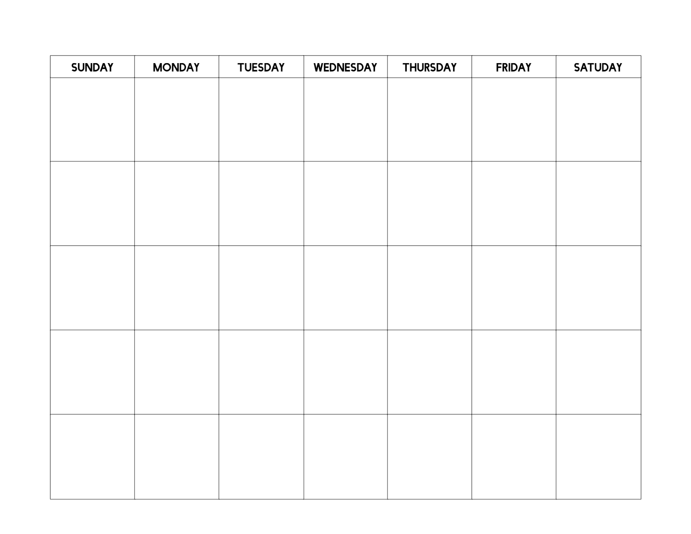 Free Printable Blank Calendar Template | Paper Trail Design