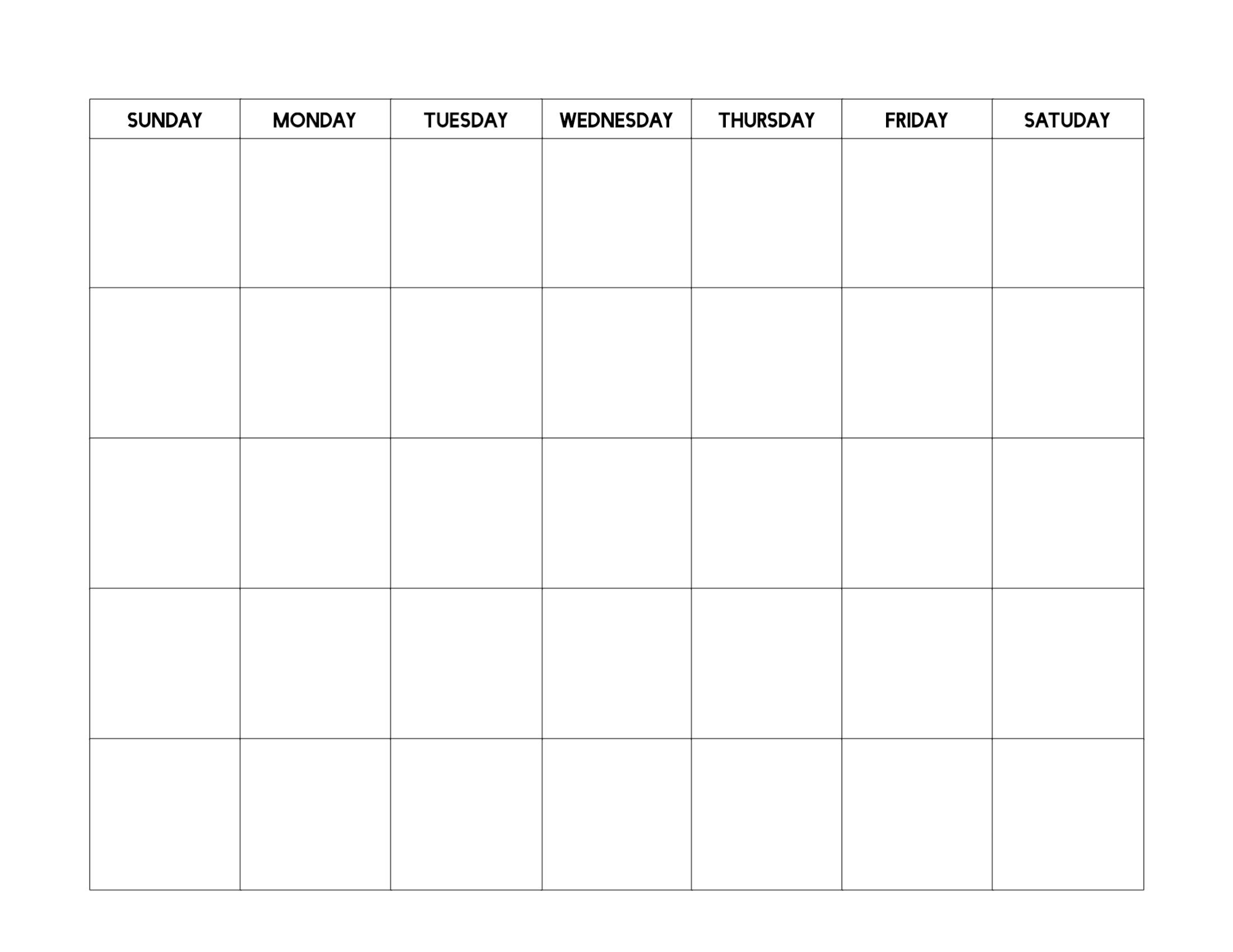 Free Printable Blank Calendar Template | Paper Trail Design