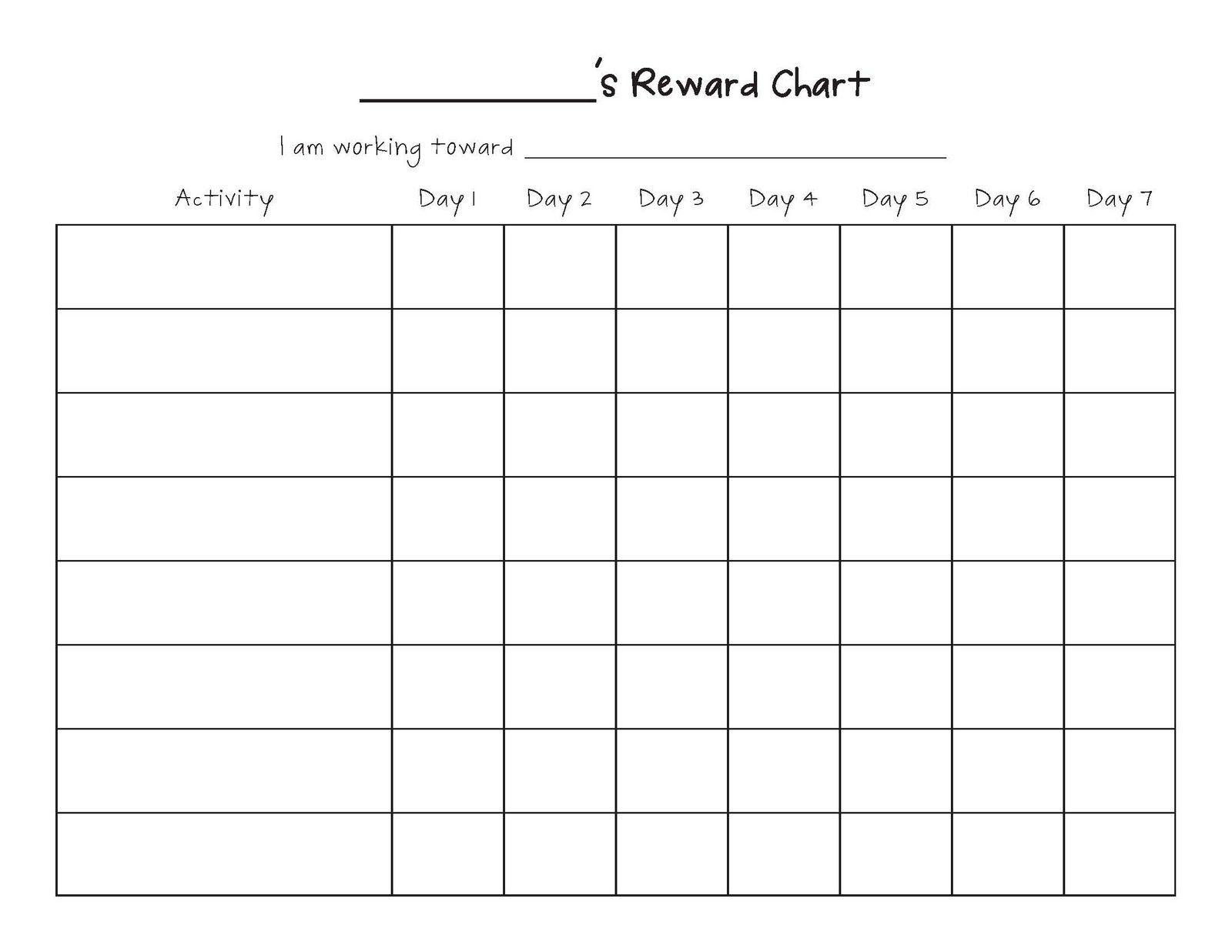 free printable blank charts | printable blank charts image
