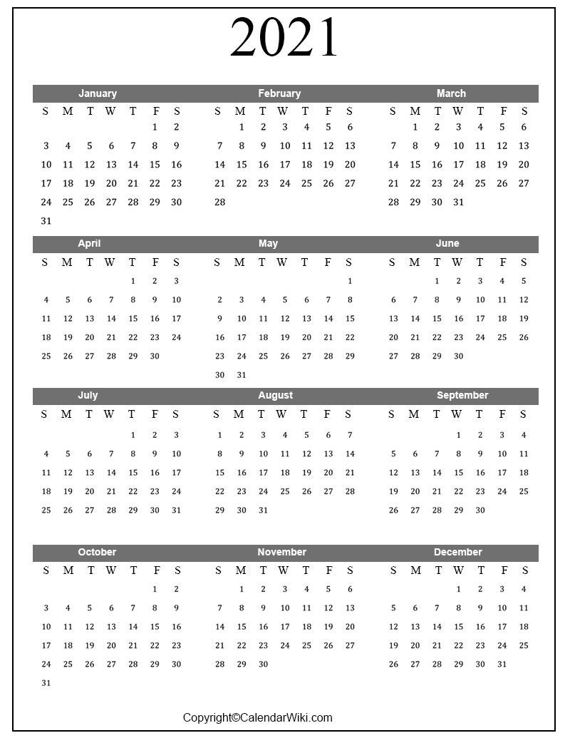 August 2021 I Can Type Into - Example Calendar Printable