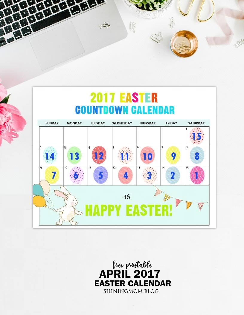 free printable: fun easter countdown calendar 2017