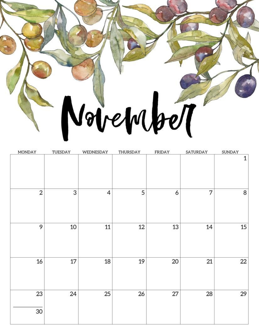 Free Printable November 2020 Calendars For Usa (updated