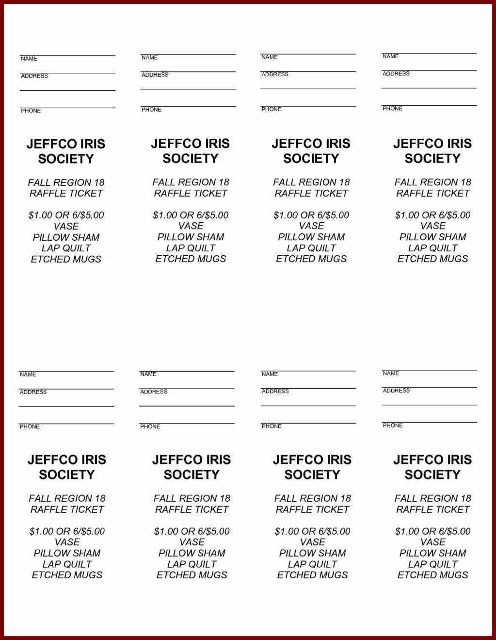 Free Printable Raffle Ticket Template Easytouse Free Raffle