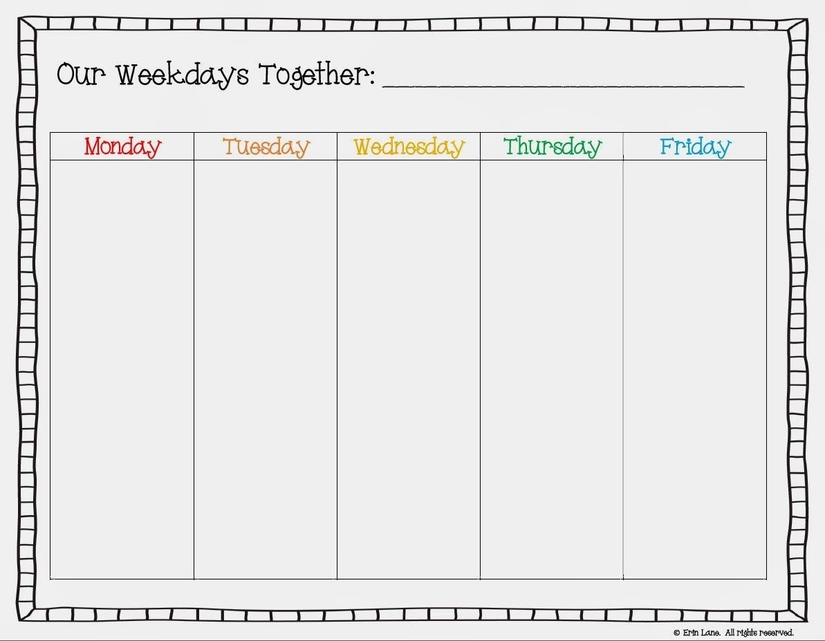 Free Printable Weekday Only Calendar Google Search