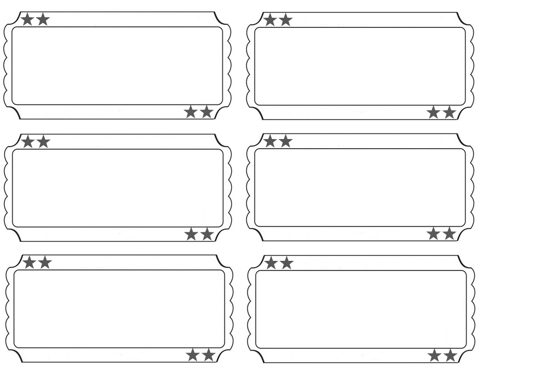 free printable carnival ticket templates | ticket template