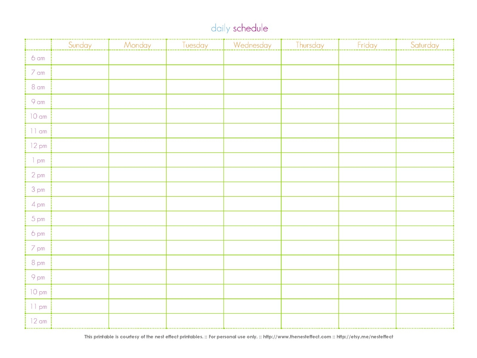 Fresh 24 Hour Calendar Template Printable | Free Printable