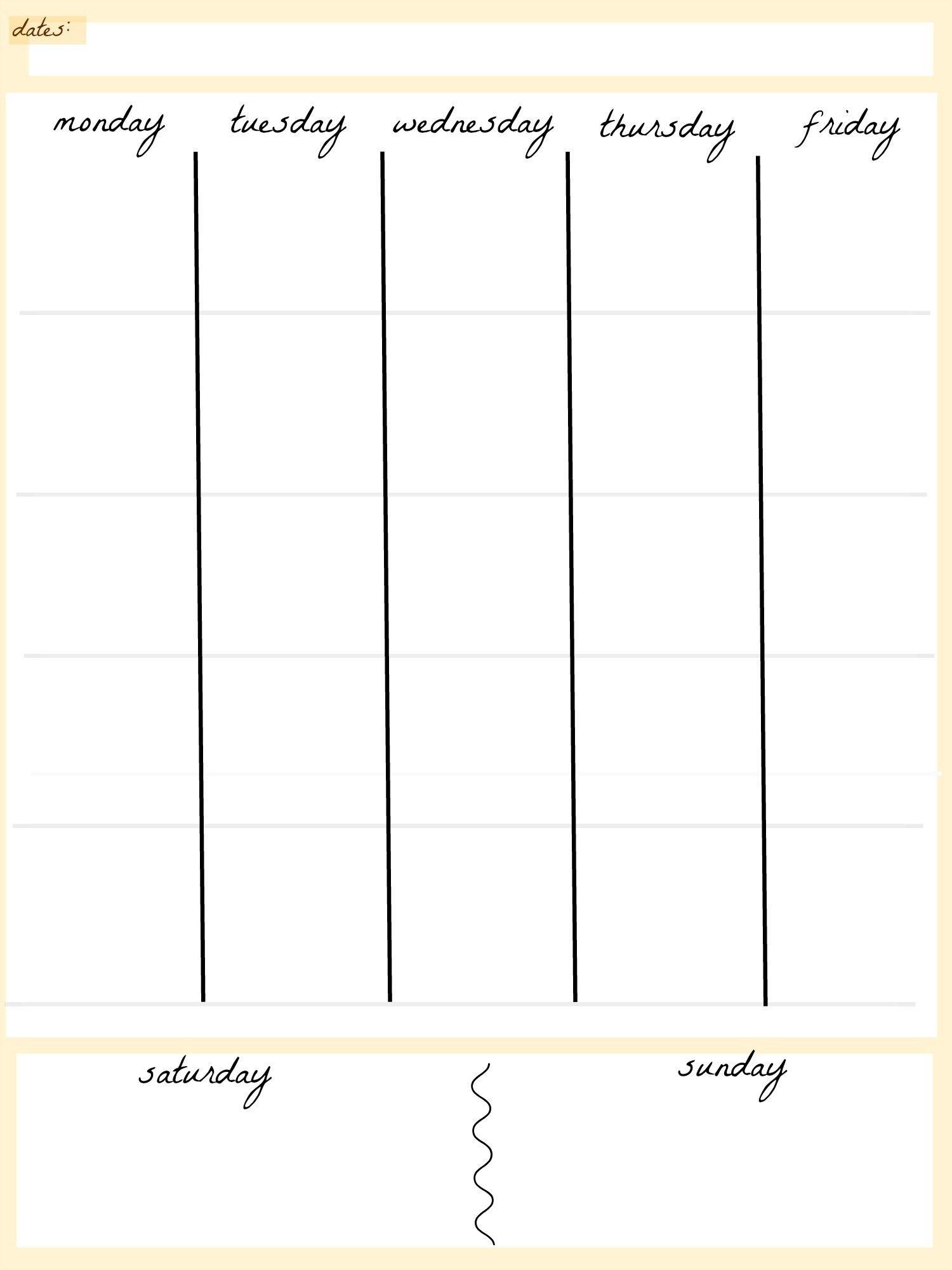Fresh 5 Day Printable Calendar | Free Printable Calendar Monthly