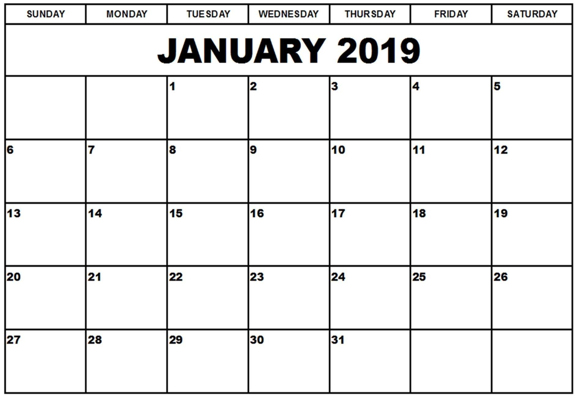 get free january 2019 editable calendar template [download
