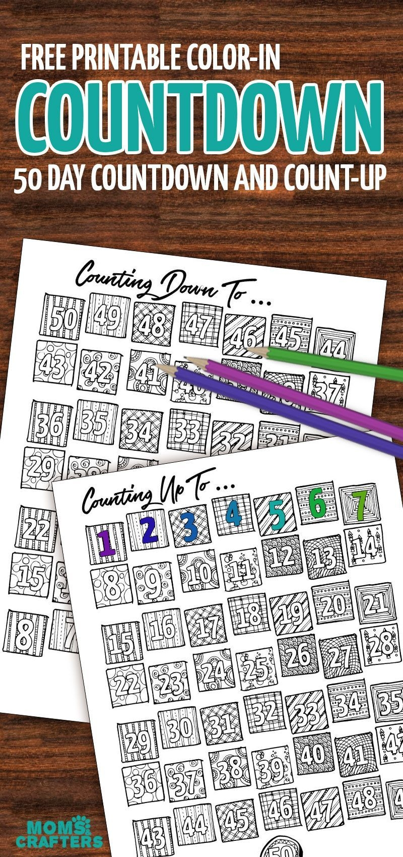 grab this fun color in countdown and progress tracker
