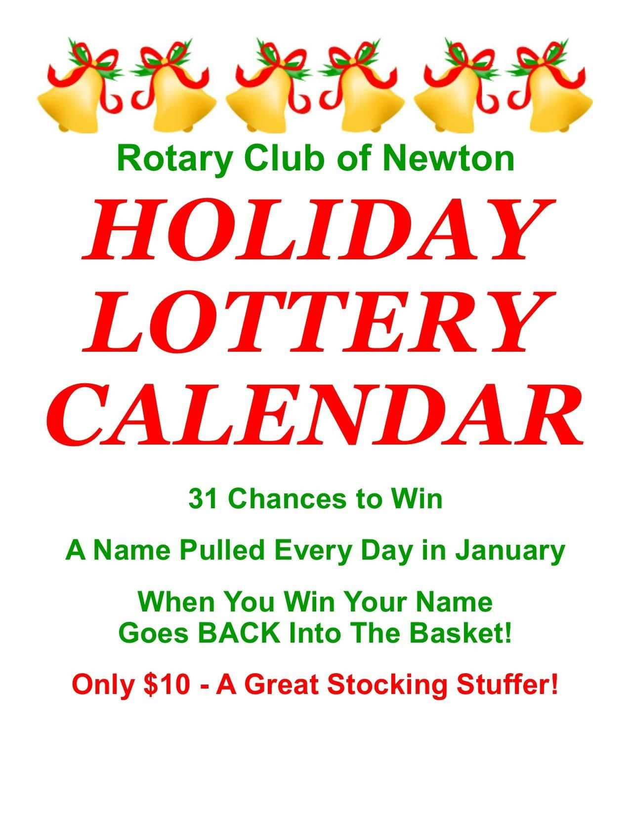 Holiday Lottery Raffle Fundraiser Going On Now! | Rotary