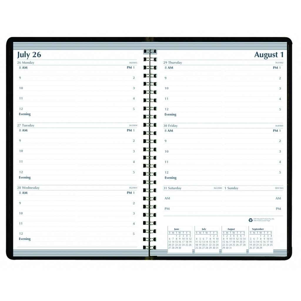 House Of Doolittle 27802 Recycled Weekly Appointment Book, 30 Minute Appointments, 5 X 8, Black, 2021