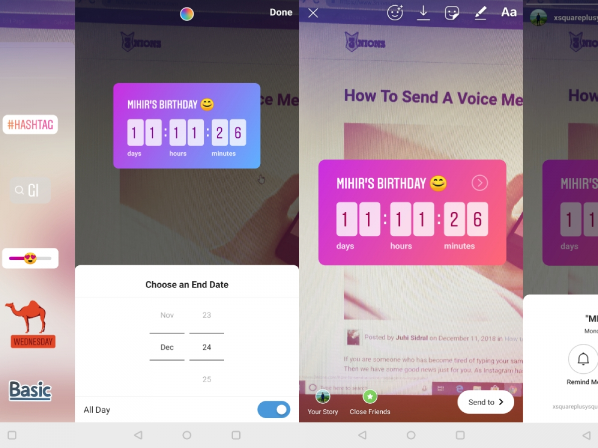 how to add countdown timer on instagram stories « 3nions