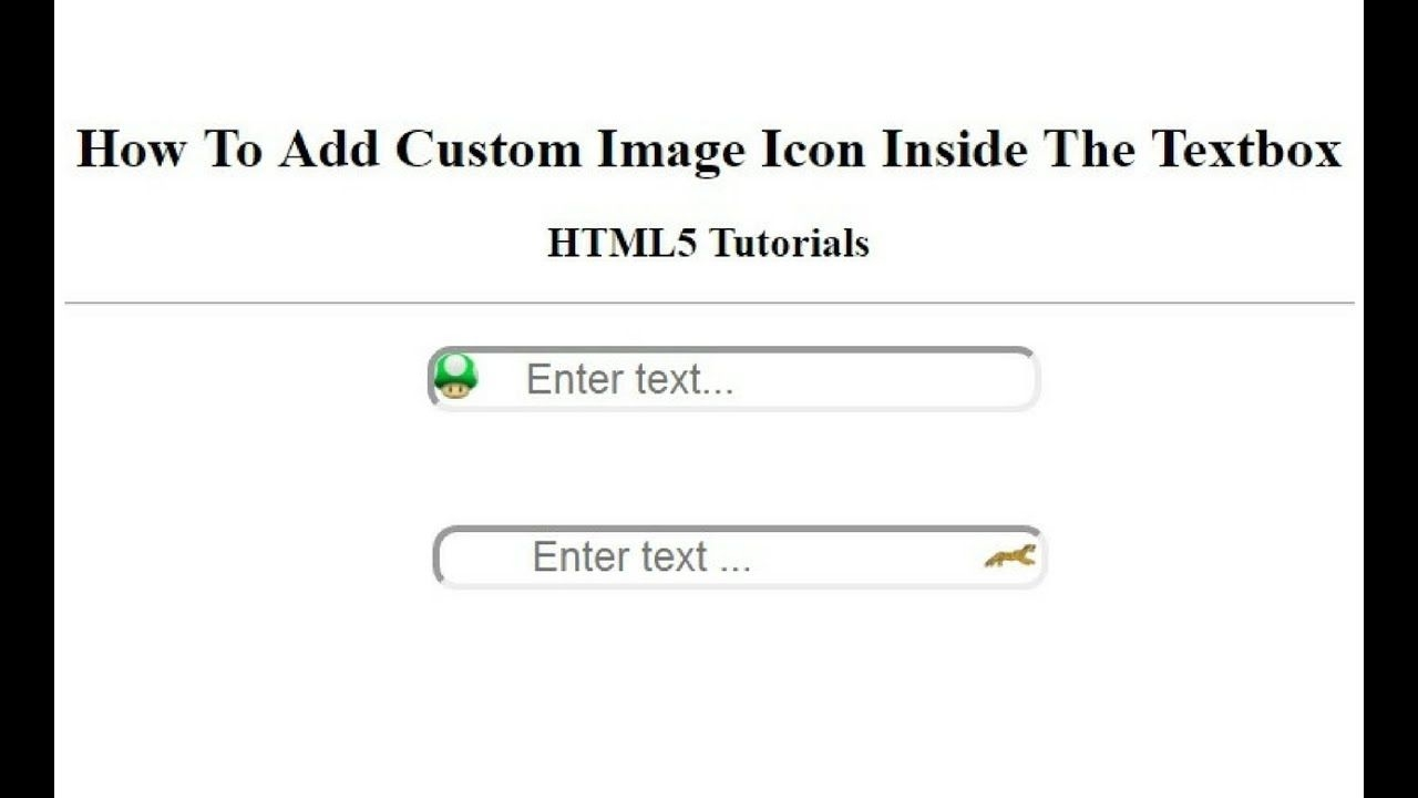 how to add custom image icon inside input textbox element using css