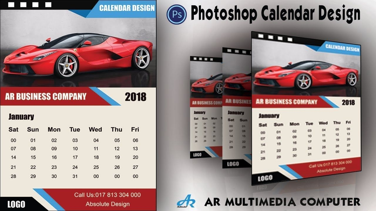 How To Create A Calendar In Photoshop Cc 2018|calendar Design 2018|photoshop Cc Calendar Design