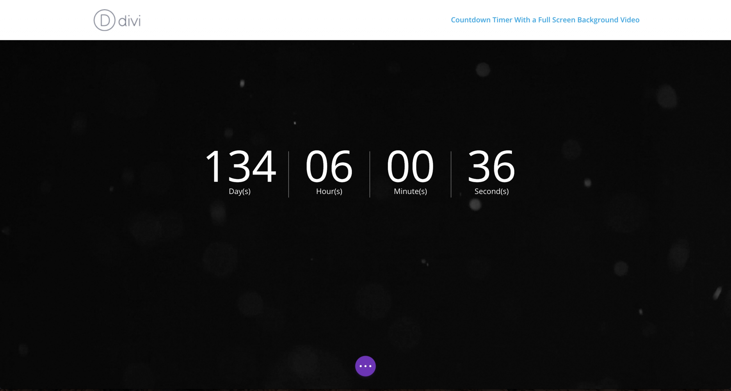 how to create a countdown timer with a full screen