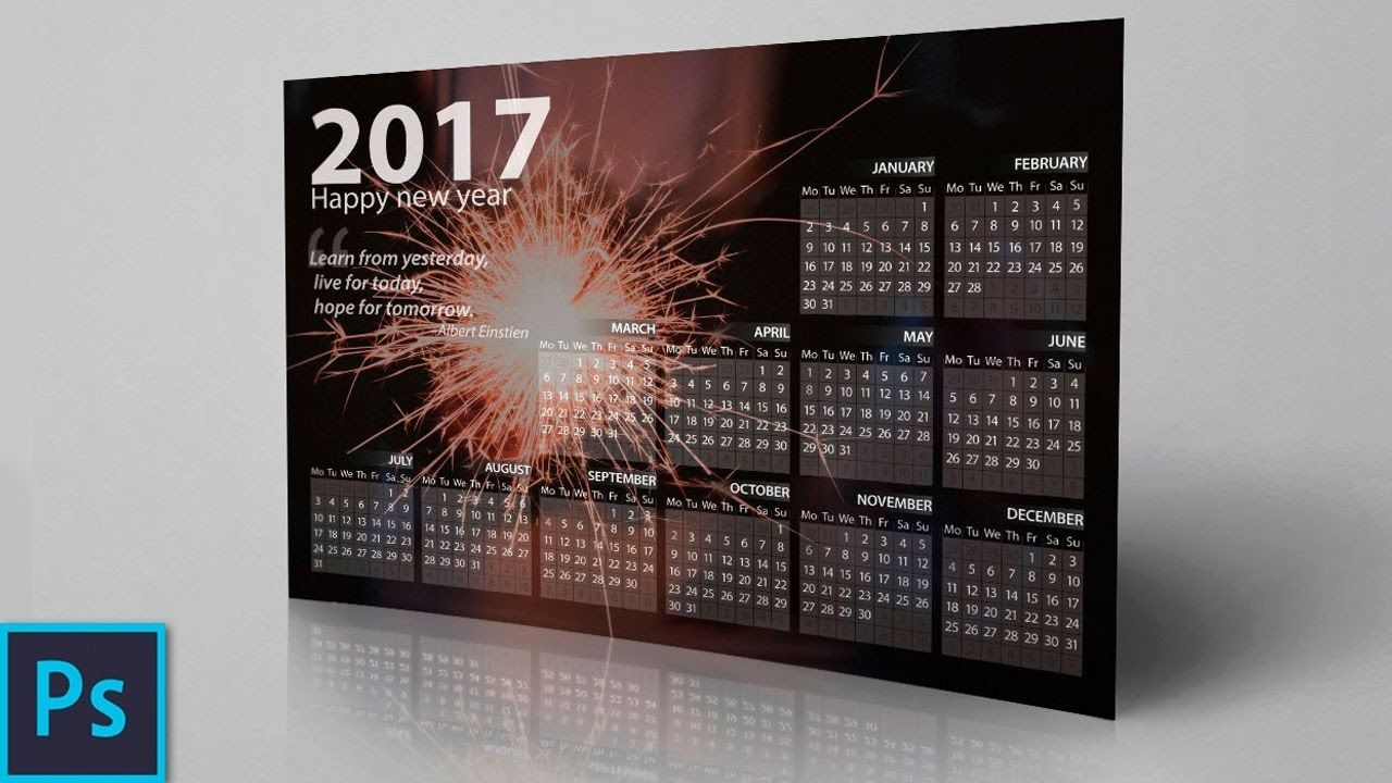 How To Create A Professional Calendar In Photoshop