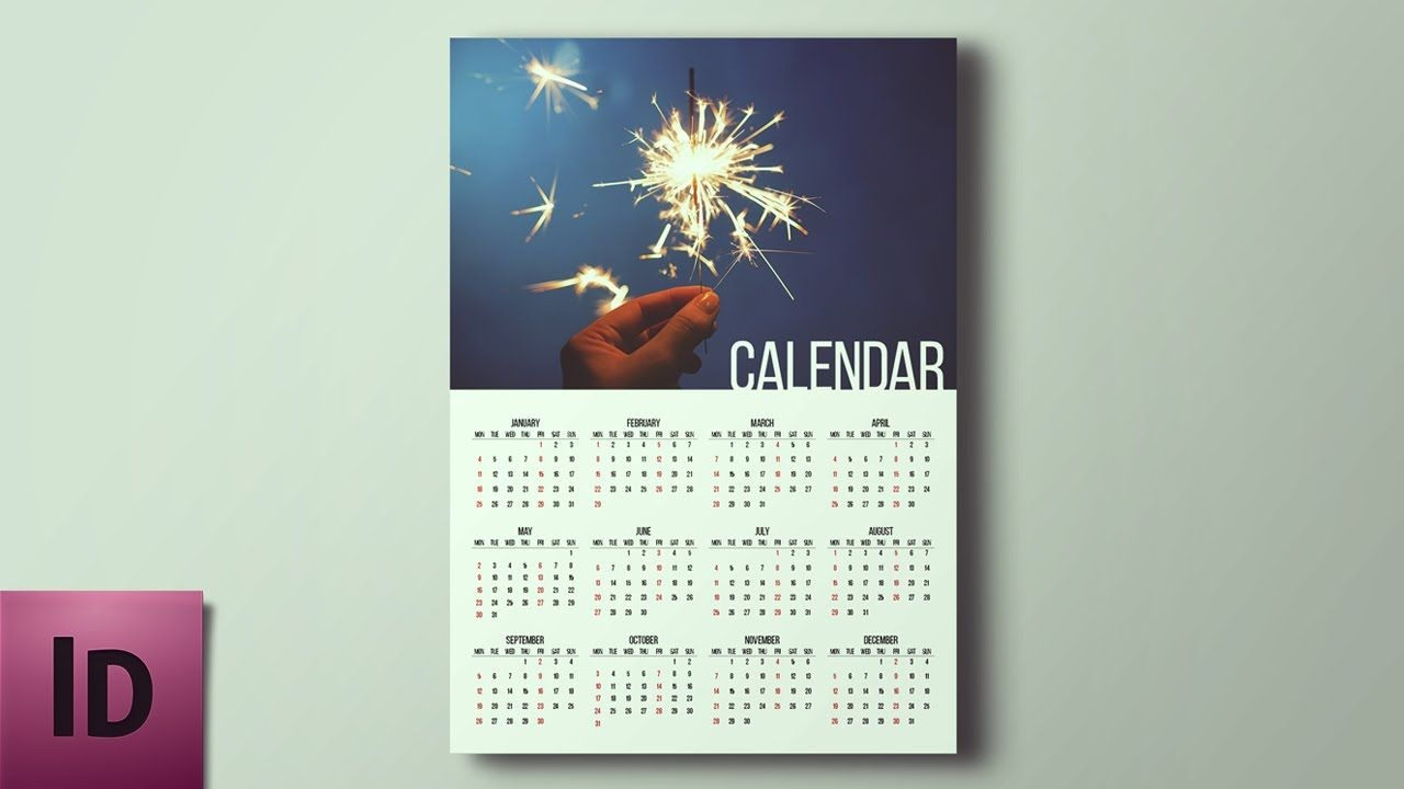 how to create a professional calendar in photoshop youtube